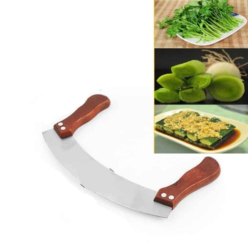 A plate of food with a knife